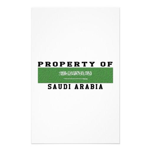 Property Of Saudi Arabia Customized Stationery