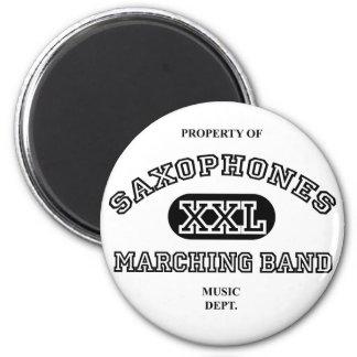 Property of Saxophones 6 Cm Round Magnet