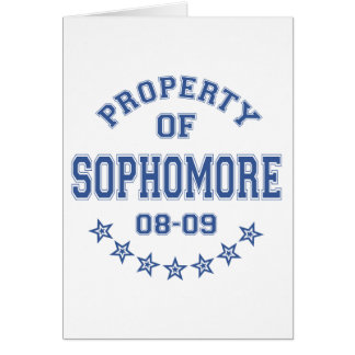 Property Of Sophomore Greeting Cards