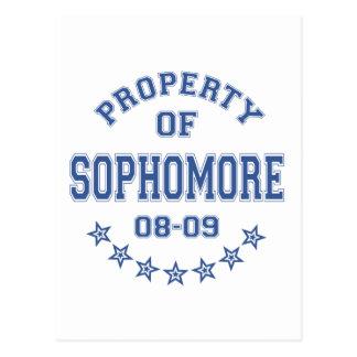 Property Of Sophomore Postcard