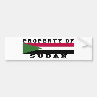 Property Of Sudan Bumper Stickers