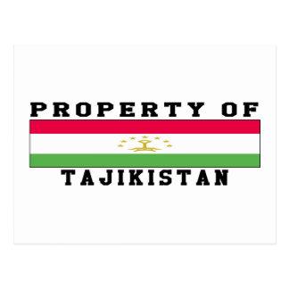 Property Of Tajikistan Postcard