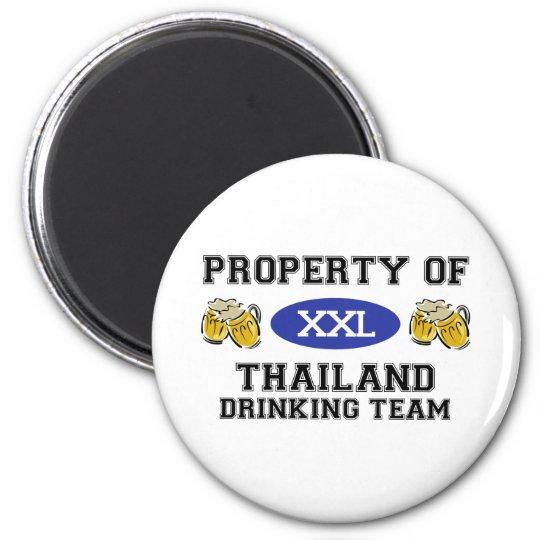 Property of Thailand Drinking Team 6 Cm Round Magnet
