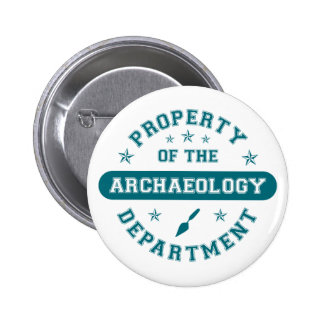 Property of the Archaeology Department 6 Cm Round Badge