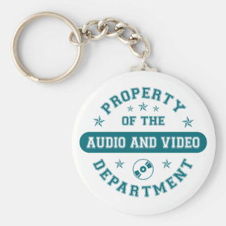 Property of the Audio and Video Department Key Ring