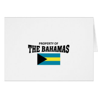 Property of The Bahamas Greeting Card