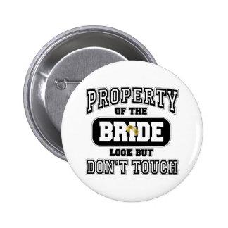 Property Of the Bride 6 Cm Round Badge