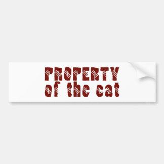 Property of the cat auto aufkleber