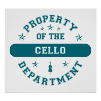 Property of the Cello Department Poster