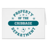 Property of the Cribbage Department Cards