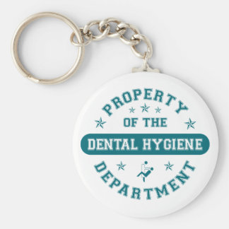 Property of the Dental Hygiene Department Basic Round Button Key Ring