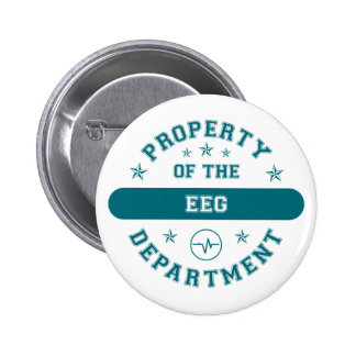 Property of the EEG Department 6 Cm Round Badge