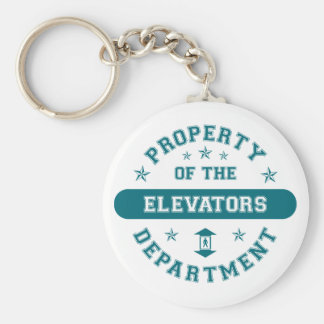 Property of the Elevators Department Basic Round Button Key Ring