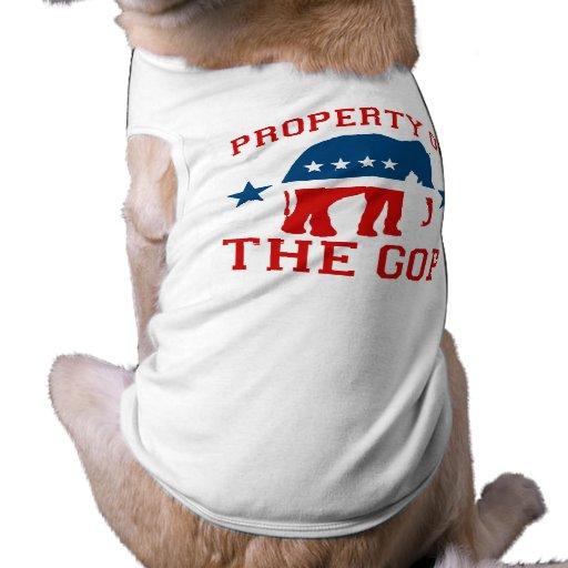 PROPERTY OF THE GOP PET TEE SHIRT