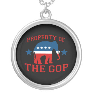 PROPERTY OF THE GOP ROUND PENDANT NECKLACE