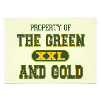 Property of The Green and Gold1 Card