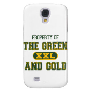 Property of The Green and Gold1 Galaxy S4 Case