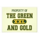 "Property of The Green and Gold1 5"" X 7"" Invitation Card"