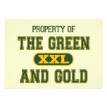 Property of The Green and Gold1 Invites