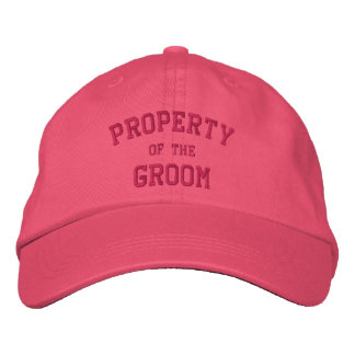 Property of the Groom- Adjustable Cloth Hat Embroidered Baseball Cap