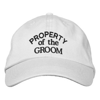 Property of the Groom Embroidered Baseball Caps