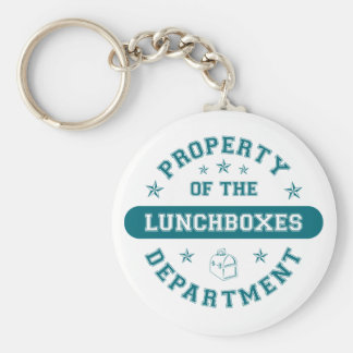 Property of the Lunchboxes Department Basic Round Button Key Ring