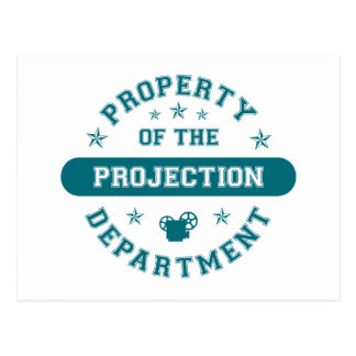 Property of the Projection Department Postcard