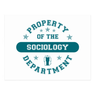Property of the Sociology Department Postcard