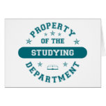 Property of the Studying Department Greeting Cards
