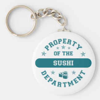 Property of the Sushi Department Basic Round Button Key Ring