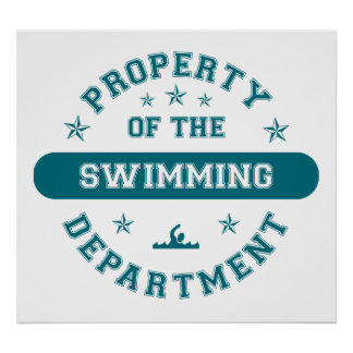 Property of the Swimming Department Poster