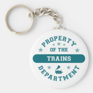 Property of the Trains Department Key Chains