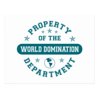 Property of the World Domination Department Postcard