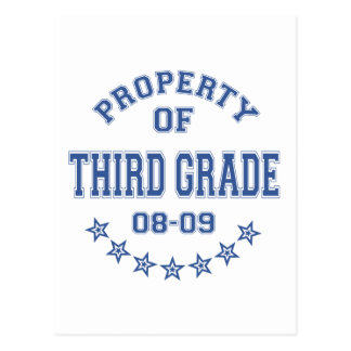 Property Of Third Grade Postcard