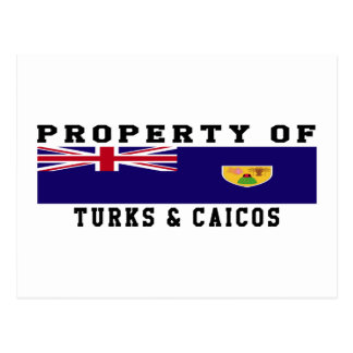 Property Of Turks & Caicos Islands Postcard