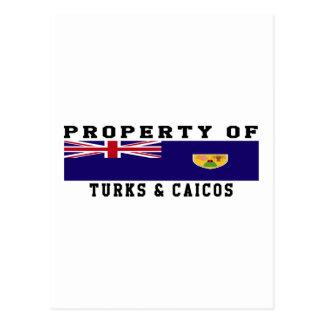 Property Of Turks & Caicos Islands Postcard