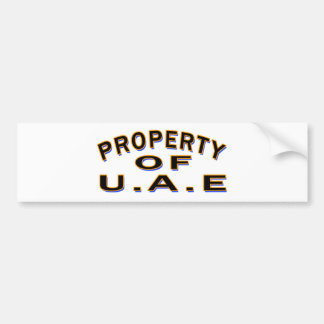 Property Of UNITED ARAB EMIRATES. Bumper Sticker