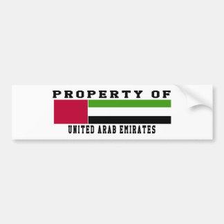 Property Of United Arab Emirates Bumper Stickers