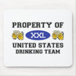 Property of United States Drinking Team Mouse Mats