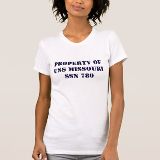 PROPERTY OF USS MISSOURI Ladie's T T-Shirt