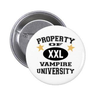 Property Of Vampire University 6 Cm Round Badge