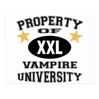 Property Of Vampire University Postcard