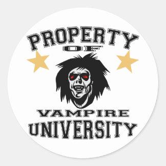 Property Of Vampire University Round Sticker