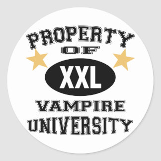 Property Of Vampire University Round Sticker