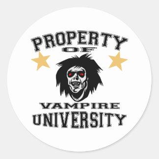 Property Of Vampire University Stickers