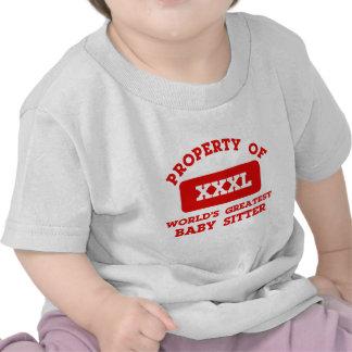 Property of world s greatest Babysitter T Shirts