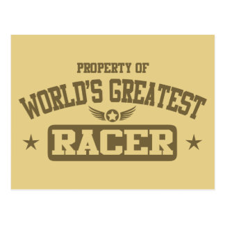 Property Of World s Greatest Racer Post Cards