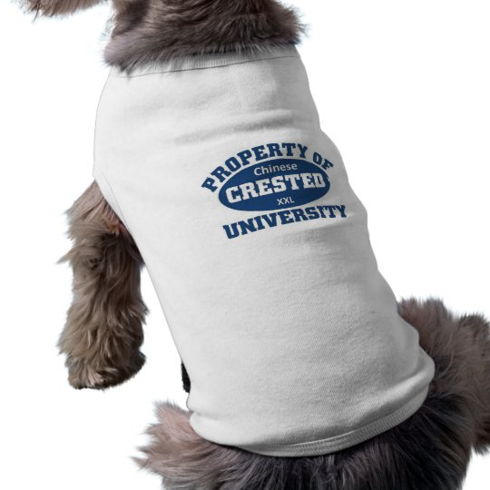 Property of xxl Chinese Crested University Shirt