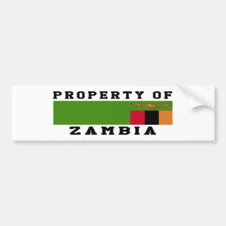 Property Of Zambia Bumper Sticker