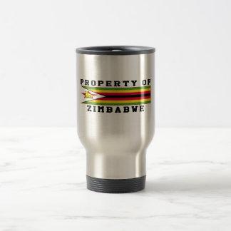 Property Of Zimbabwe 15 Oz Stainless Steel Travel Mug